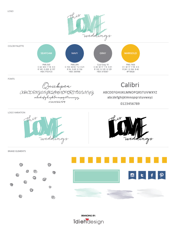 small business branding this love weddings idieh design