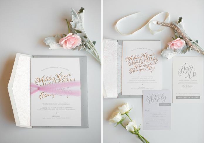 Ombre Wedding Invitation: Ombré Wedding Invitations - Idieh Design