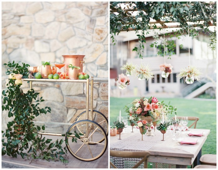 Copper and Coral Wedding