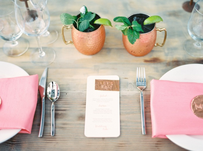 Copper and Coral Wedding Stationery