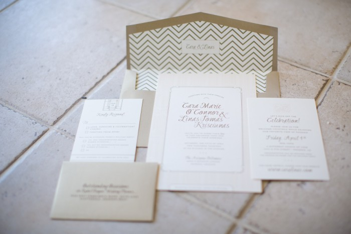 Gatsby Inspired Wedding Stationery // Phoenix, Arizona