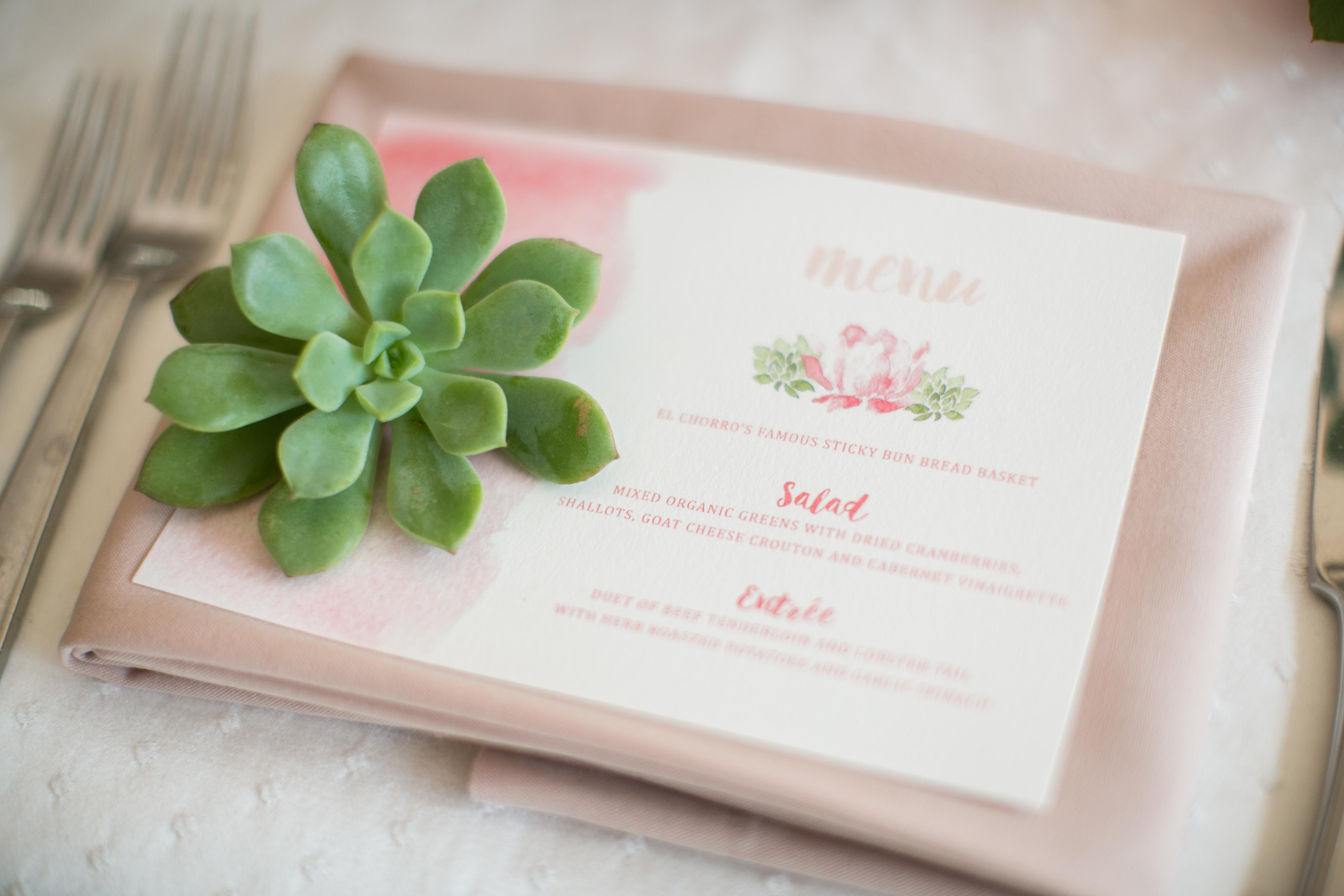 Desert Floral Wedding Stationery | Phoenix, Ariz.