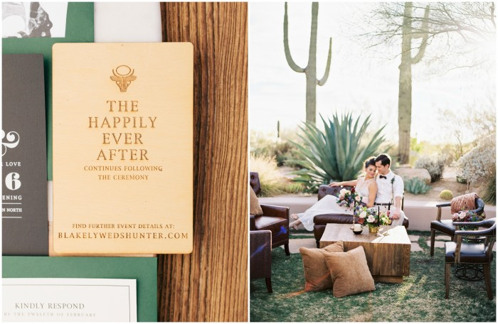 Edgy Masculine Wedding Stationery