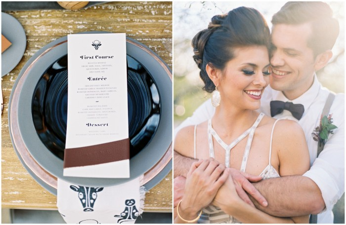 Edgy Masculine Wedding Stationery