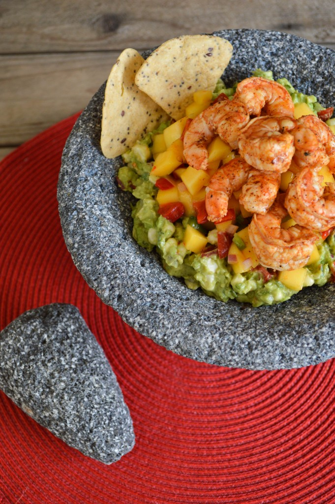 grilled shrimp with guacamole