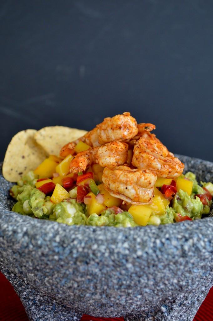 chili lime shrimp guacamole bowl recipe