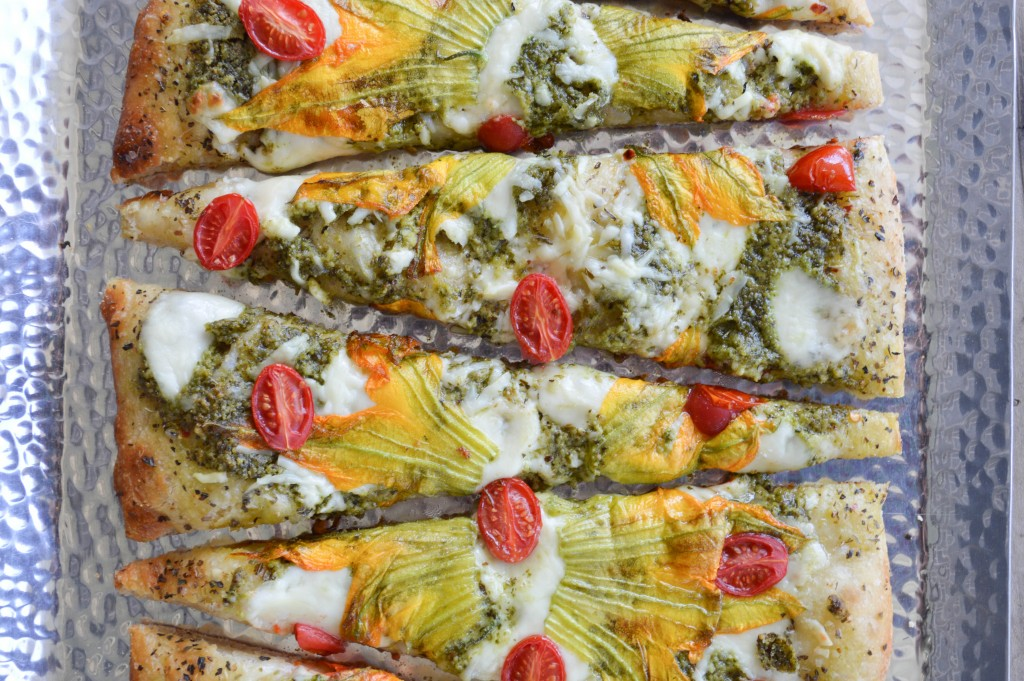 Grilled Squash Blossom Pizza Recipe — Dishmaps