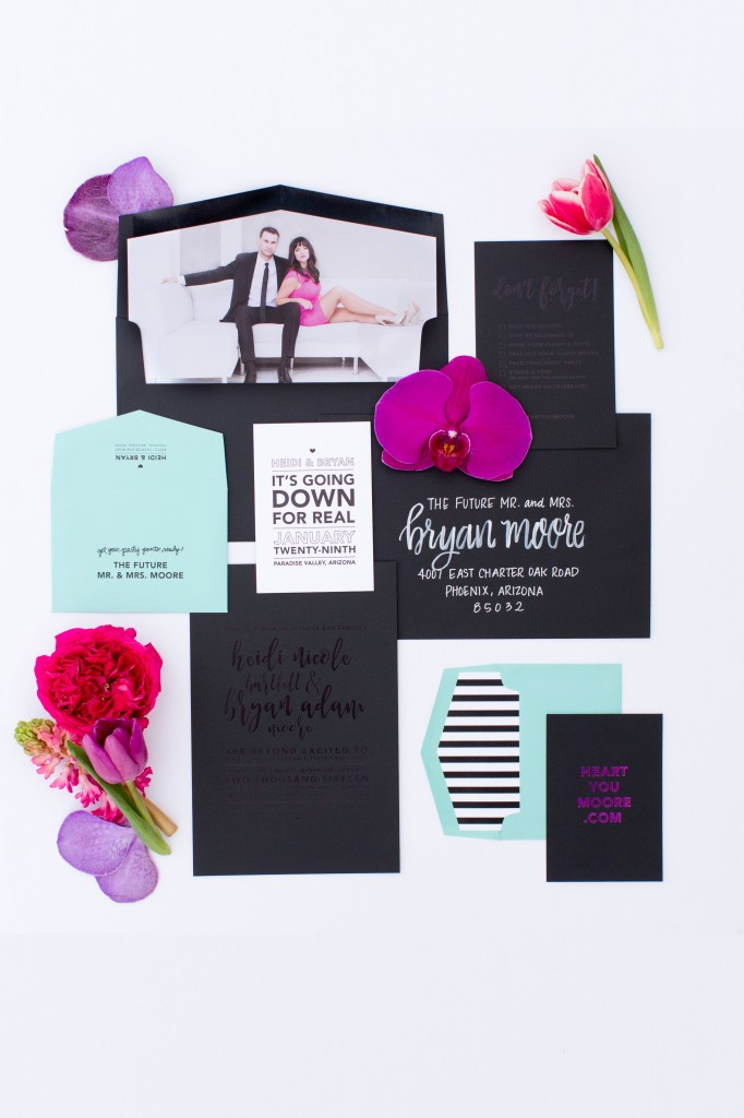 Modern and Vibrant Wedding Stationery