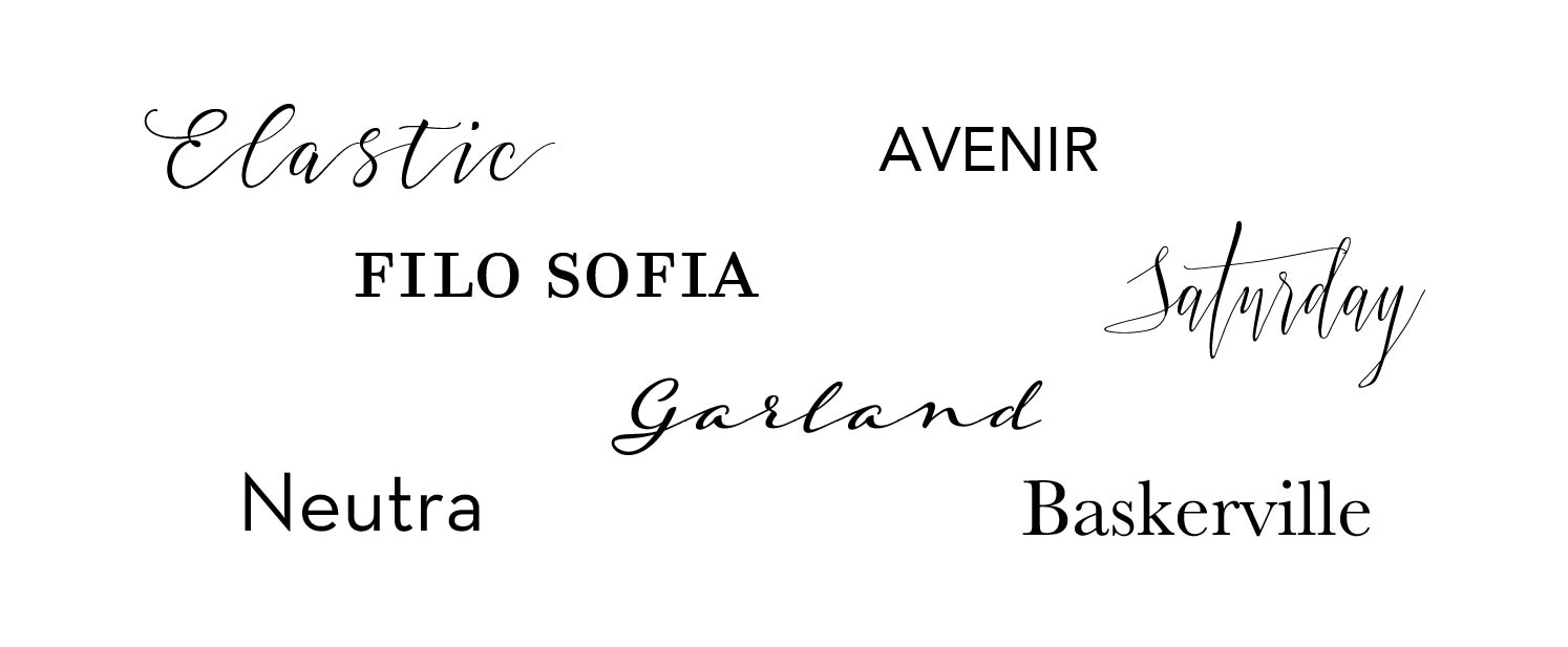 Fonts for Wedding Stationery