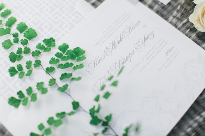 Modern Romantic Green Wedding Stationery