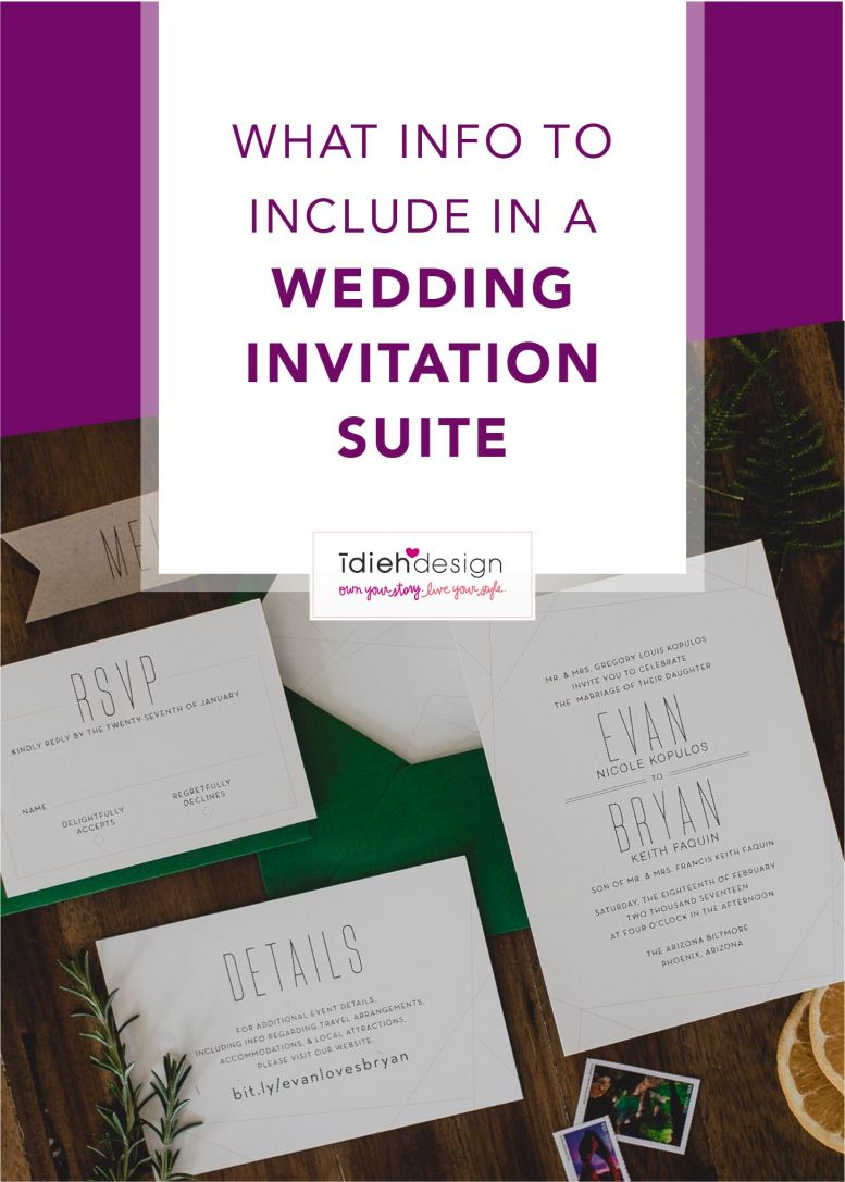 What to Include in a Wedding Stationery Suite