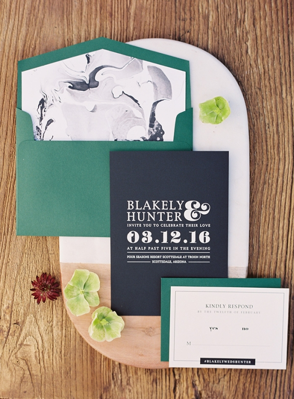 Earthy Glam Wedding Stationery