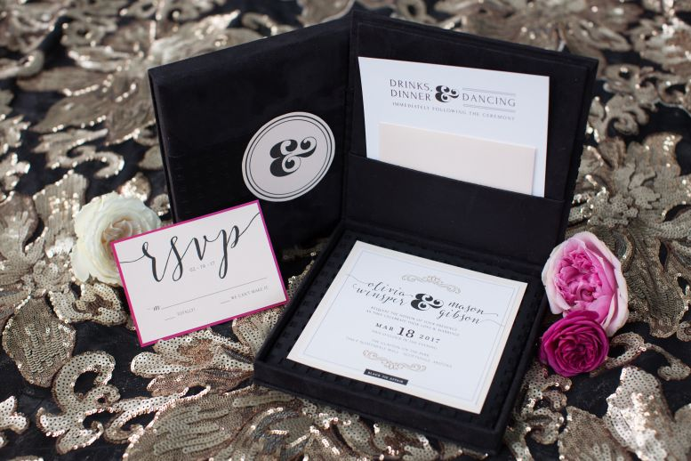 modern wedding stationery