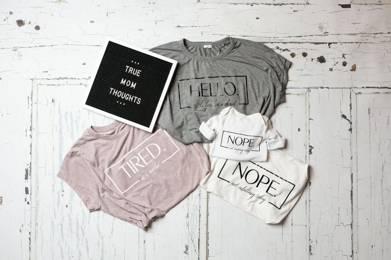 DIY Motherhood T-shirts