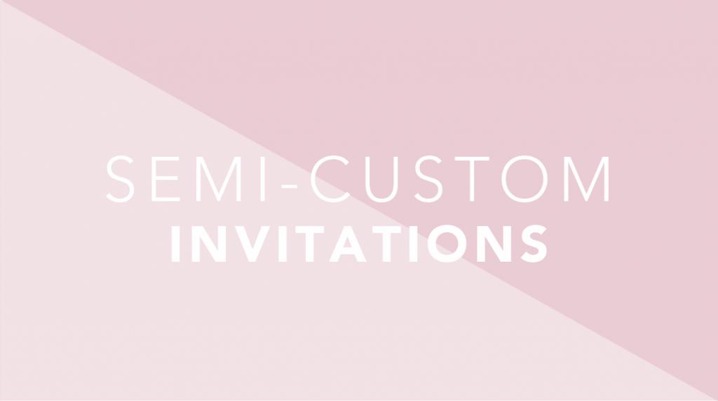 semi custom wedding invitations in phoenix