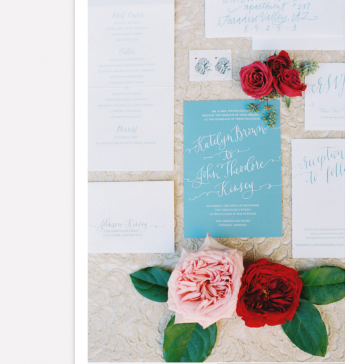 Bright Romantic Wedding Stationery Featured