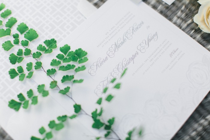 Modern Romantic Green Wedding Stationery